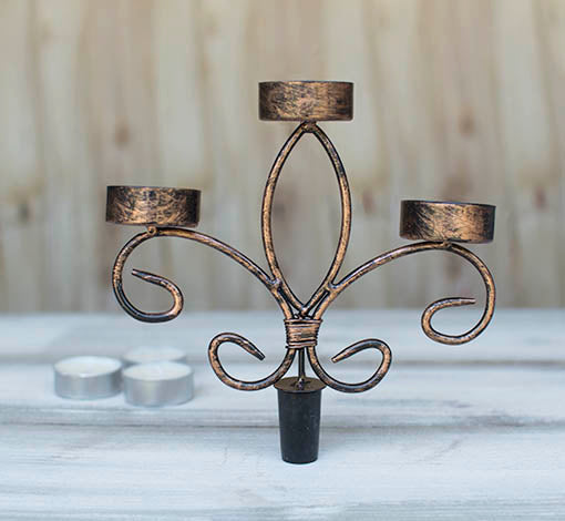 Each clever candelabra attachment is delivered with three real wax tealights included for your convenience!
