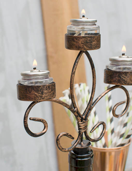 Many other styles of tealights are wonderfully compatible with your candelabra, when your originally included candles have been completely used! Sold separately.