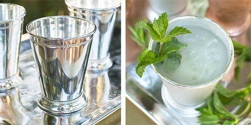 Each julep cup comes with a recipe card to make your own mint juleps!