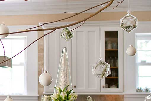 Clear Glass Geometric Hanging Glass Terrarium Ornaments