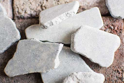 These light cool grey toned rocks vary in size and take the natural form nature has given them.