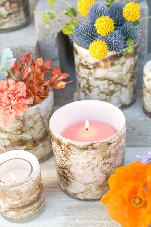 Fit a pillar candle in this holder for a romantic addition to your home or venue decor.