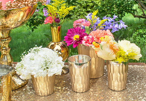 Complete your wedding and venue displays with our entire collection of carved candle holders and vases. Fill these vessels with your floral arrangements or candles for the perfect centerpieces.