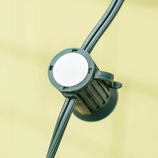 Each of the 25 outdoor compatible sockets is fitted with a clip and magnet for easy hanging on ferrous metal surfaces.
