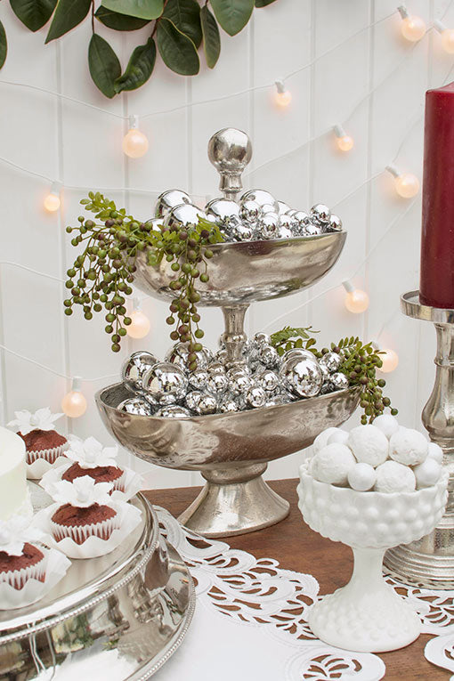 Add elegant botanicals to your holiday ornament arrays for holiday gatherings and winter weddings!
