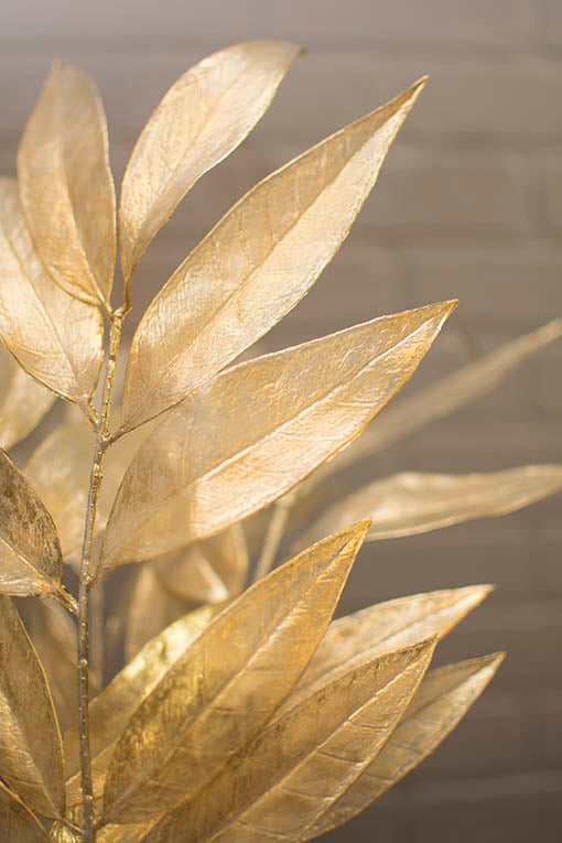 The translucent gold leaves & stems can easily be bent into the shape you desire.