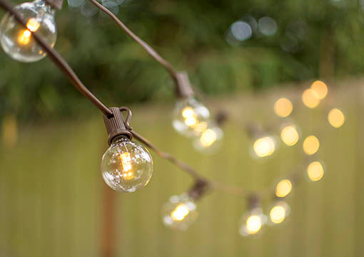 Brown Wire LED Globe Lights