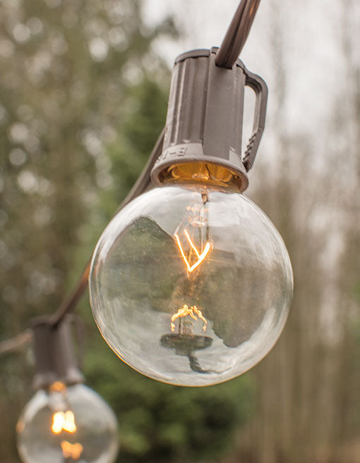 Each bulb is 2 inches in diameter and made with an E17 base to fit into the C7 wire.