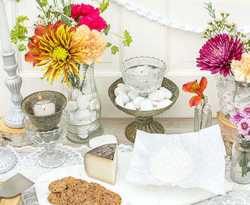 Place this clear glass dish in an antique inspired compote with white rock vase filler. Add a votive candle for a delightful glow on your table.