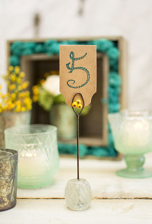 Vintage Inspired Table Place Card Holders, Table Markers, 5.75in, 6 Pk