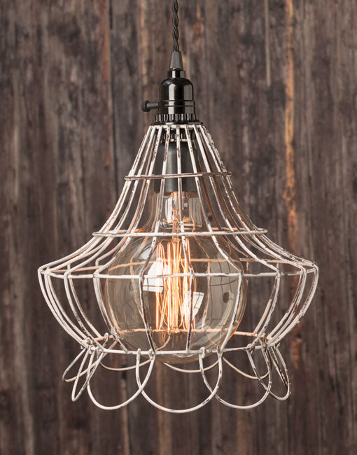 Pair with an oversized globe bulb for eye-catching illumination with antique appeal.