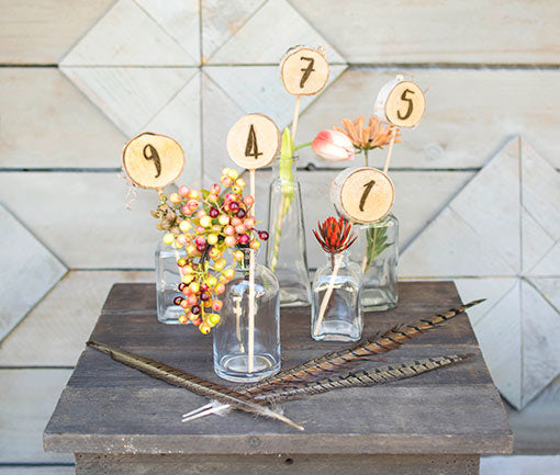 Add to table number displays for a pop of color.