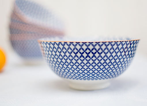 Cobalt Blue Porcelain Tidbit Bowl