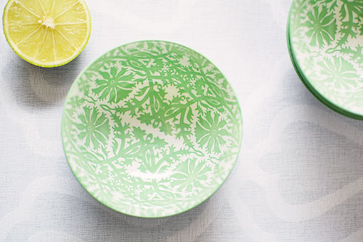 Green and Blue Porcelain tidbit bowls