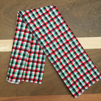 "18"" Plaid Holidays Square Bandana"