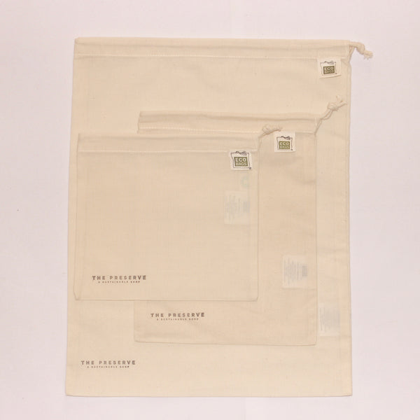Cotton Produce Bag Set (3 sizes)