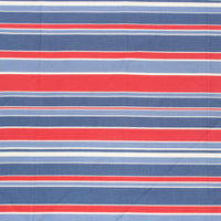 "16"" Blue and Red Stripe Bandana"