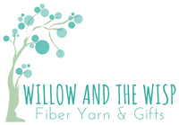 Willow and the Wisp Fiber Yarn & Gifts Logo