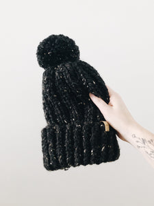 Chunky Knit Hat // Obsidian // All Sizes // Made to Order