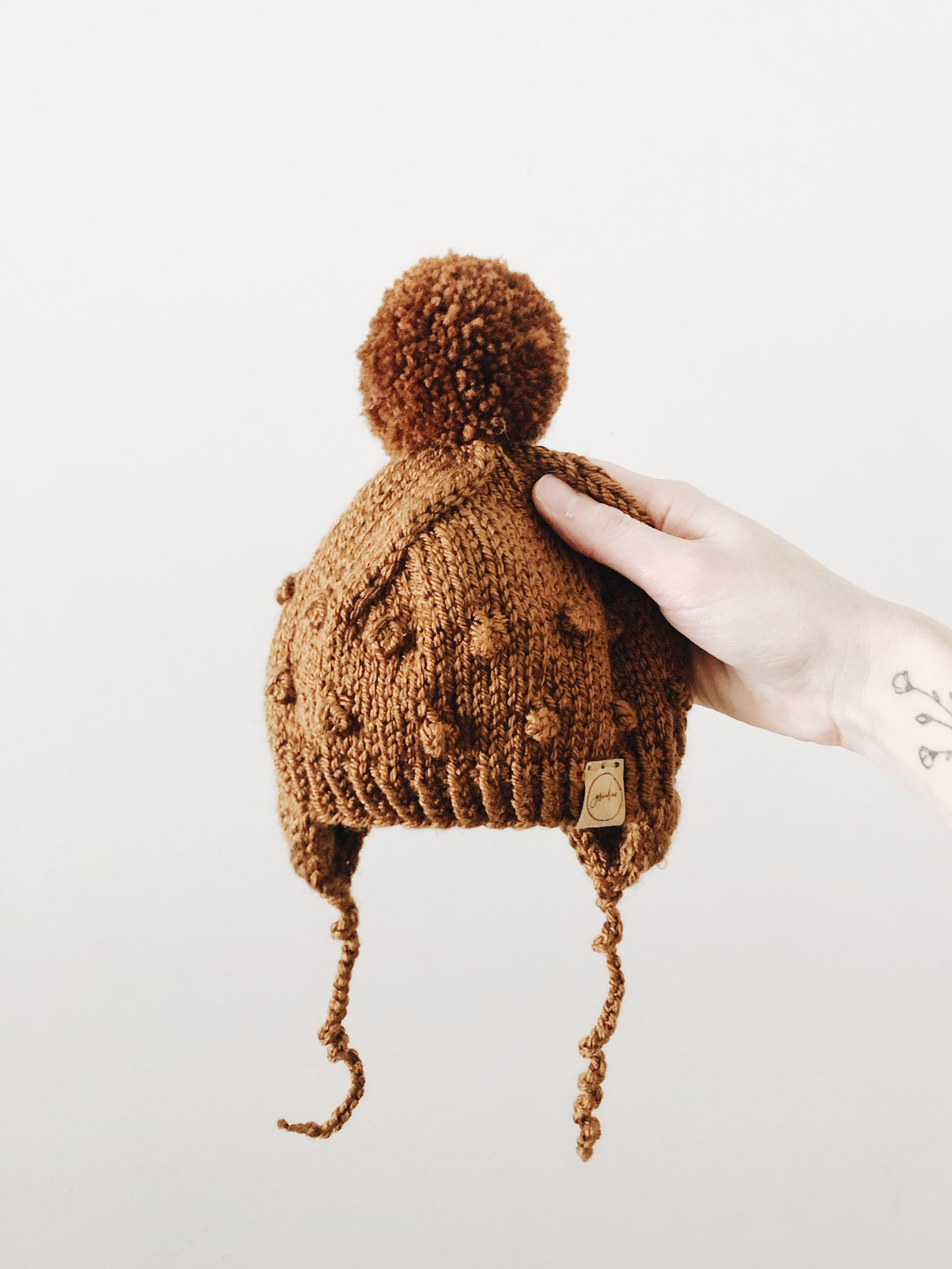 Knit Bobble Hat // Copper // Baby + Toddler