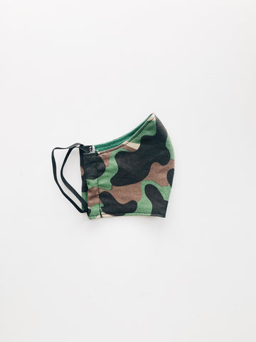 Face Mask // Camo Green