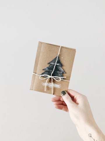 'Christmas Tree' - Handmade Holiday Cards