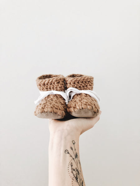 'Fawn' Wool Leather Booties