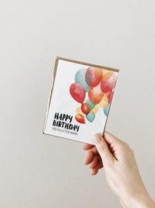 'Happy Birthday Beautiful Mama' Birthday Noble Greeting Card