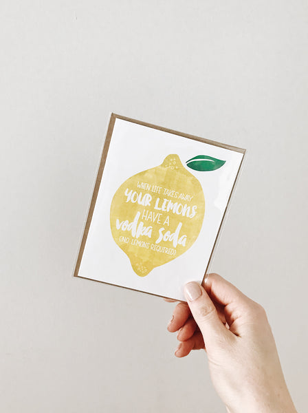 'Life Takes Lemons' Miscarried Mom Noble Greeting Card
