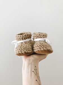 'Desert Sand' Leather Slippers // Baby
