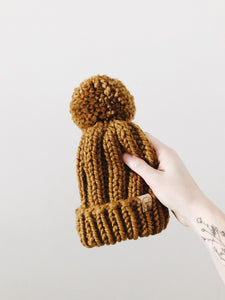 Chunky Knit Hat // Flax // All Sizes