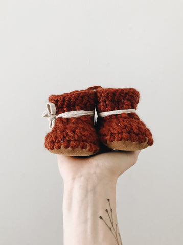 Pumpkin Spice Leather Booties