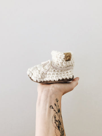 'Cotton' Leather Slippers // Toddler