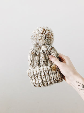 Chunky Knit Hat // Fossil // Child // RTS