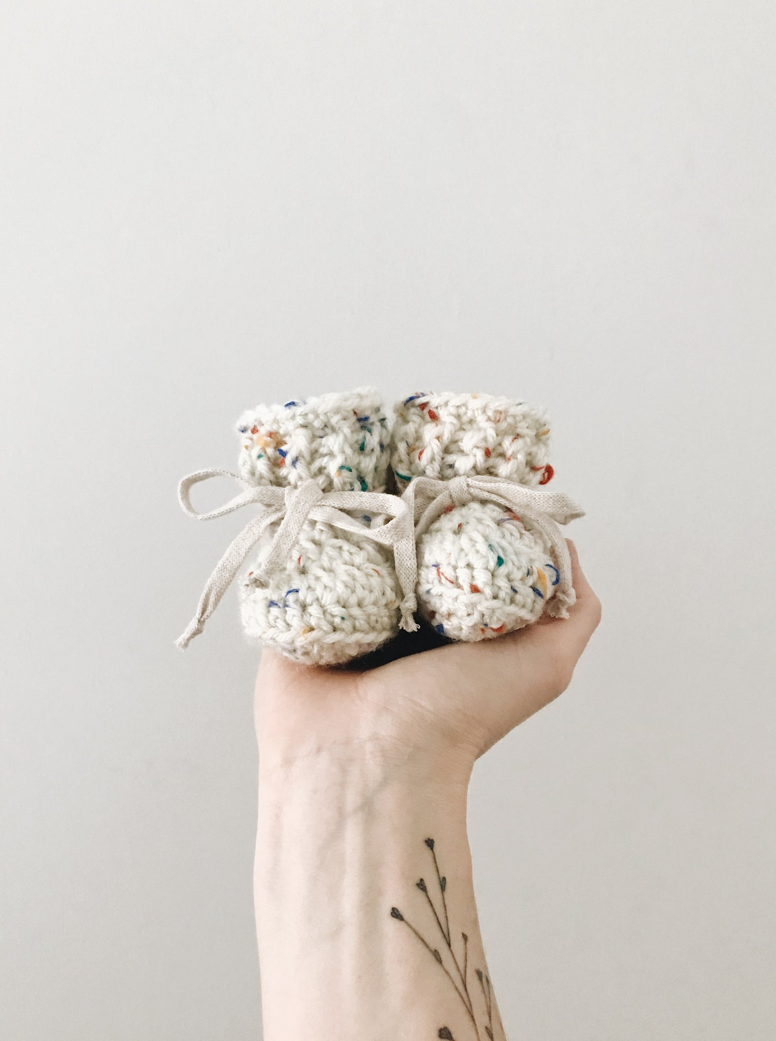 Classic Rainbow Sprinkle Booties