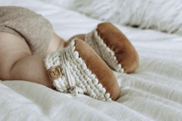 Crochet Pattern: Infant Leather Slippers - Digital Download