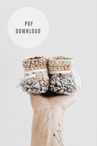 Crochet Pattern: Chunky Booties - Digital Download
