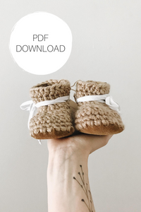 Crochet Pattern: Toddler + Child Leather Slippers - Digital Download