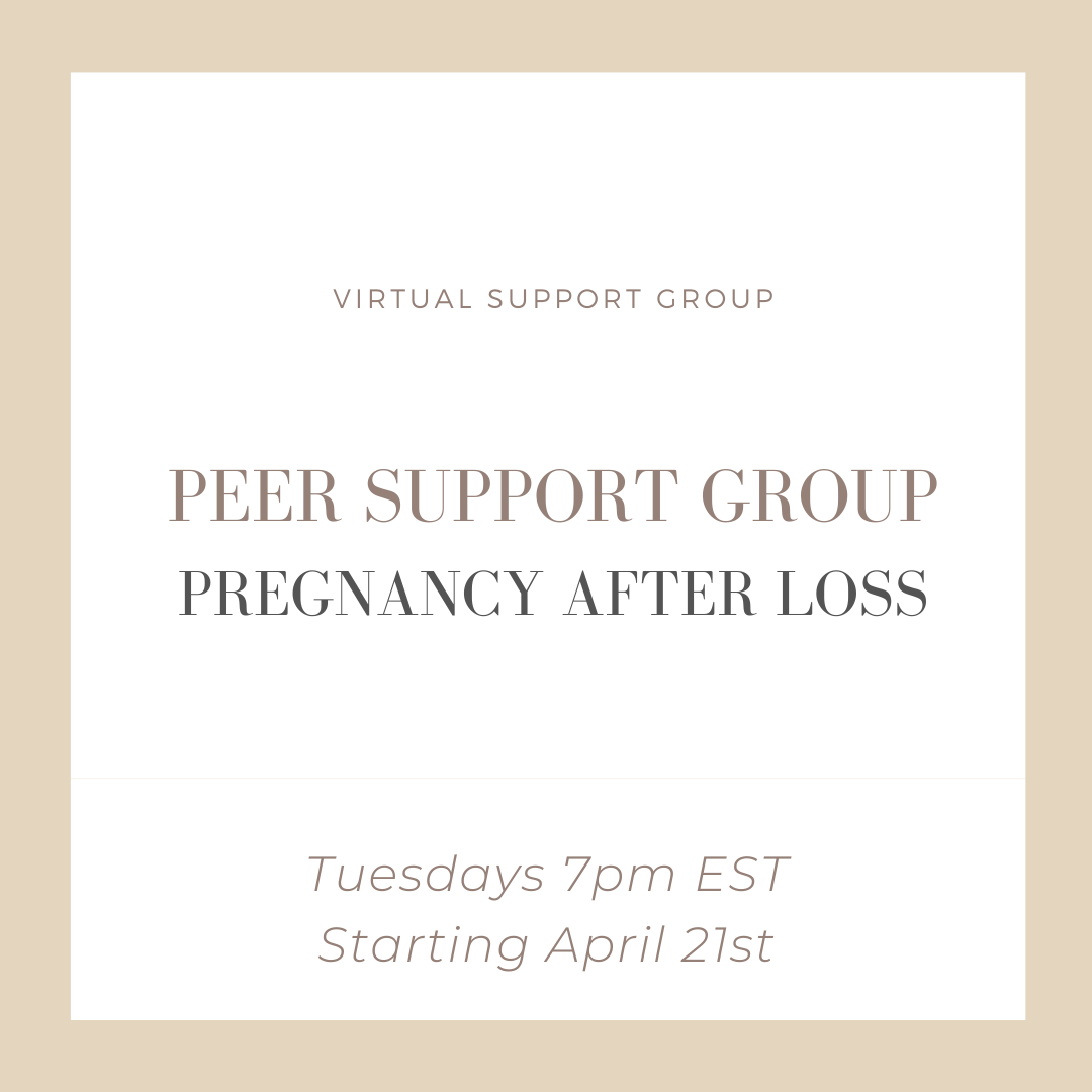 Virtual Peer Support Group - Pregnancy after Loss