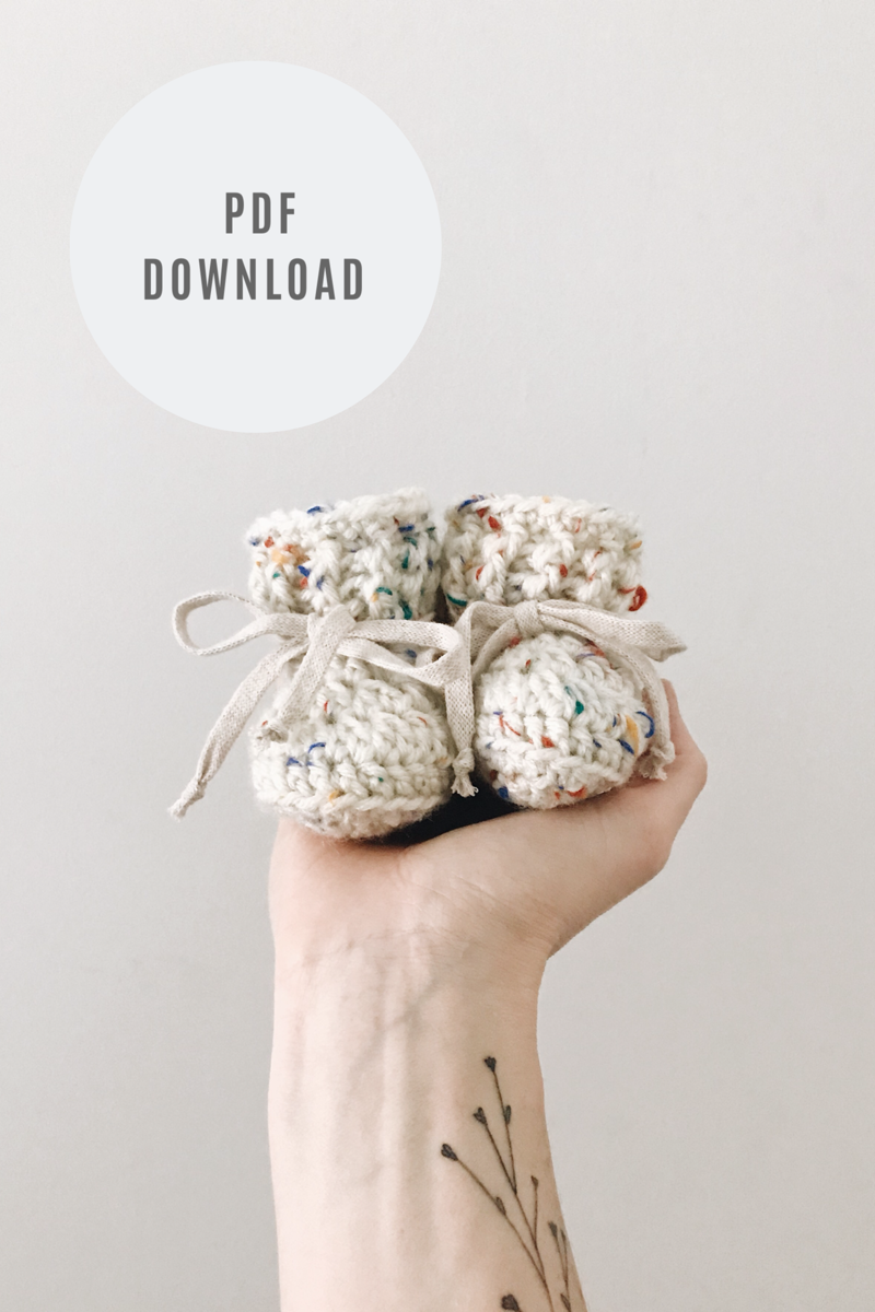 Crochet Pattern: Classic Booties - Digital Download