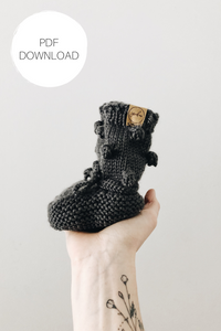 Knit Pattern: Knit Bobble Booties - Digital Download