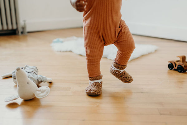 'Fawn' Leather Slippers // Toddler