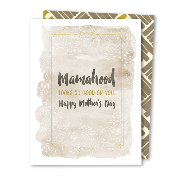'Mamahood' Mother's Day Noble Greeting Card