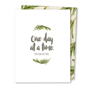 'One Day at a Time' Infertility Noble Greeting Card