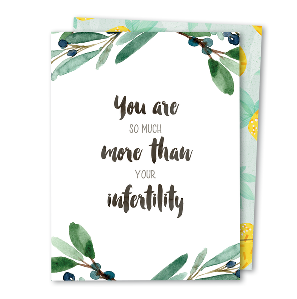 'So Much More' Infertility Noble Greeting Card