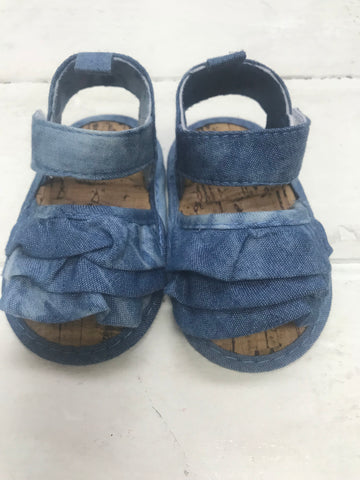 Denim Frill Shoe