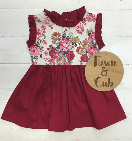 Maroon Vintage Dress