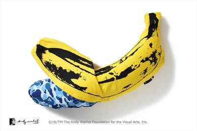 A BATHING APE Type MENS【 BAPE X MEDICOM TOY X ANDY WARHOL 】ABC CAMO BANANA CUSHION S - BAPEPLUGTO