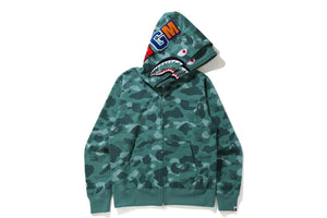 A BATHING APE Type MENS COLOR CAMO SHARK WIDE FIT FULL ZIP DOUBLE HOODIE