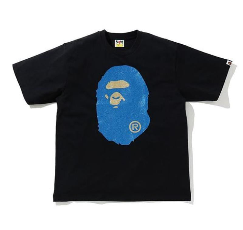 BAPE GLITTER BIG APE HEAD RELAXED TEE.  17/APR
